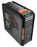 Aerocool X-Predator X3 Evil Black Gaming Case Black Interior 20CM Orange
