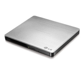 LG Ultra Slim External 8x DVD Writer - Silver