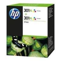 HP 301XL Multi-pack 2x Tri-Colour OriginalInk Cartridge - High Yield 2x 330 Pages - D8J46AE