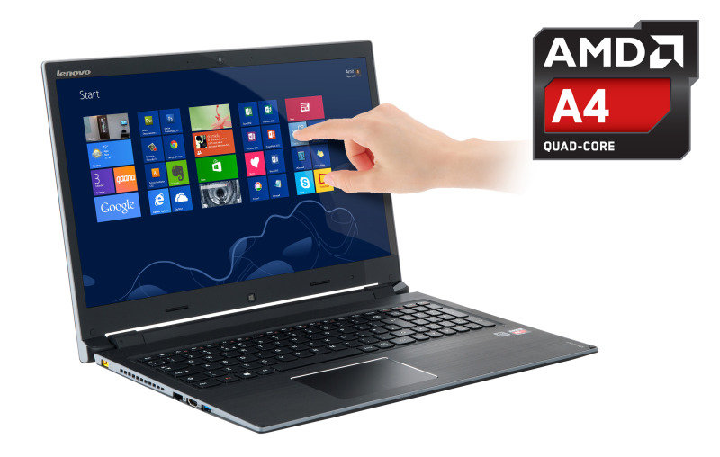 Lenovo Flex 15D Convertible Laptop AMD A45000 1.5GHz 4GB RAM 1TB HDD 15.6&quot Touch NOOPT  AMD Webcam Windows 8.1 64bit
