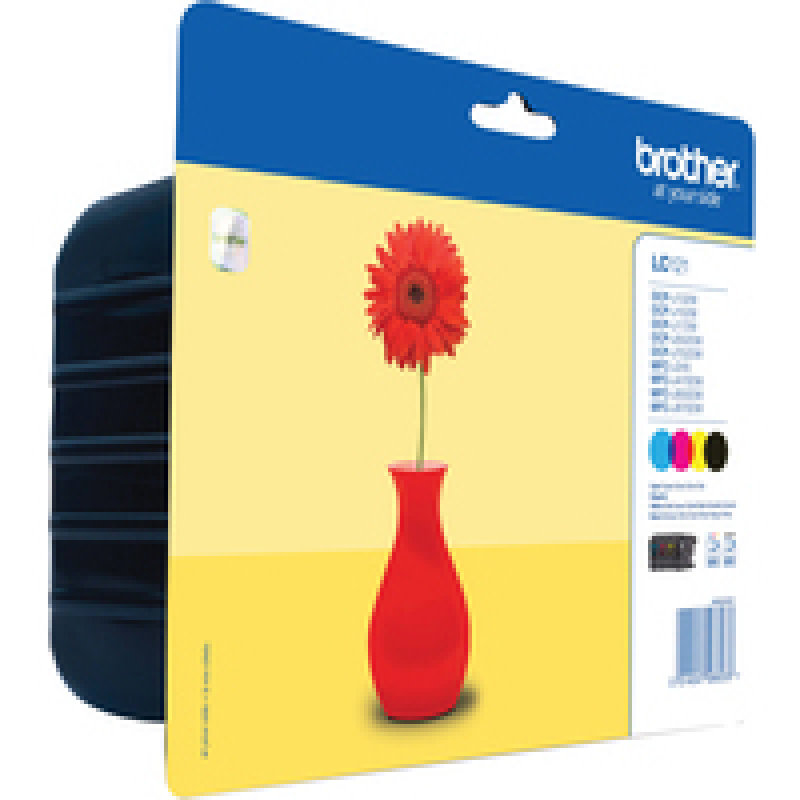 Brother LC121 4 Colour Value Multi-Pack - Black, Yellow, Cyan, Magenta - 300 Pages