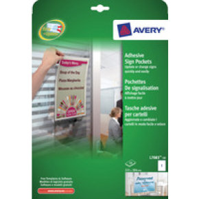 Avery Adhes Sgn Pckts 221x304mm Pack 10