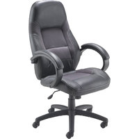 FF ARISTA SWIFT EXEC LEATHER CHAIR BLACK