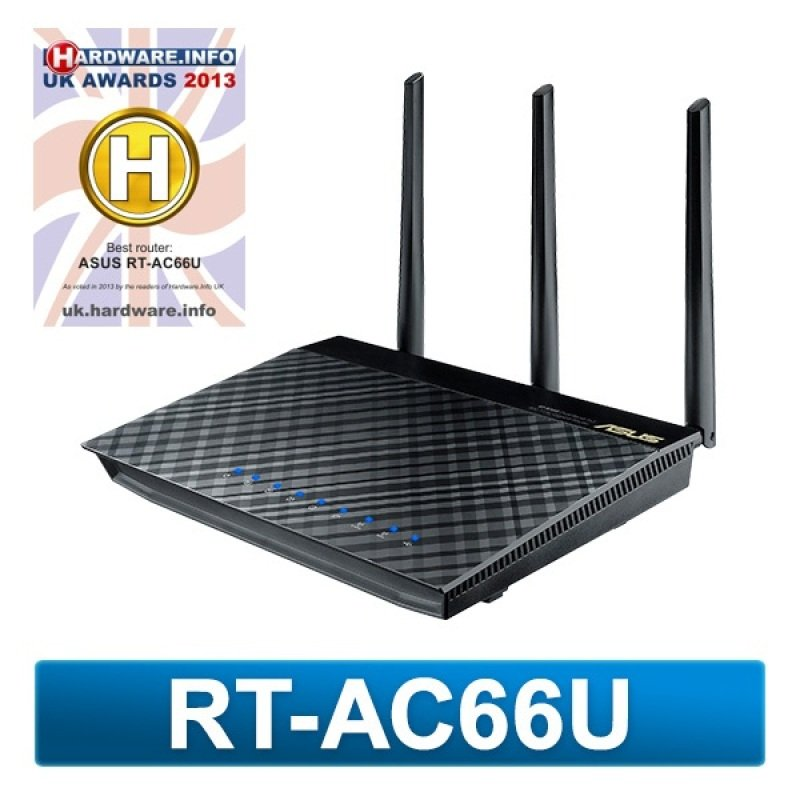 Asus RT-AC66U AI MESH Dual-Band Wireless-AC1750 Gigabit Router