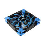 Aerocool Dead Silence 12cm Blue LED Fan Dual Material Colour FDB Fan 12.1dBA Retail