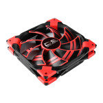 Aerocool Dead Silence 12cm Red LED Fan Dual Material Colour FDB Fan 12.1dBA Retail
