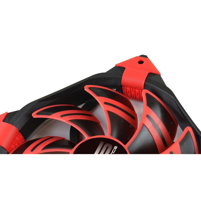 Aerocool Dead Silence 12cm Red LED Fan Dual Material Colour FDB Fan 12.1dBA Retail