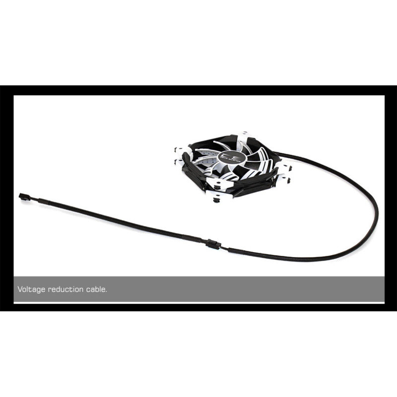 Areocool Dead Silence 12cm White LED Fan Dual Material/Colour FDB Fan 12.1dBA Retail