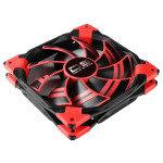 Aerocool Dead Silence 14cm Red LED Fan Dual Material Colour FDB Fan 10.8dBA Retail