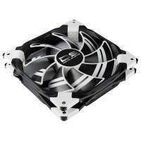 Aerocool Dead Silence 14cm White LED Fan Dual Material Colour FDB Fan 10.8dBA Retail