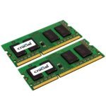 Crucial 8GB Kit (4GBx2) DDR3 1600 MT/s (PC3-12800) CL11 SODIMM 204pin 1.35V Single Ranked