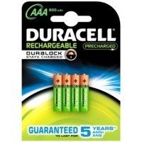 Durcell Stay Charged 800mAh AAA - 4 Pack with Duralock