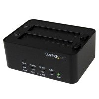 StarTech.com USB 3.0 to 2.5 / 3.5 inch SATA Hard Drive Docking Station and Standalone HDD / SSD Duplicator