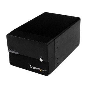 StarTech.com USB 3.0/eSATA Dual 3.5 inch SATA III Hard Drive External RAID Enclosure with UASP and Fan (Black)