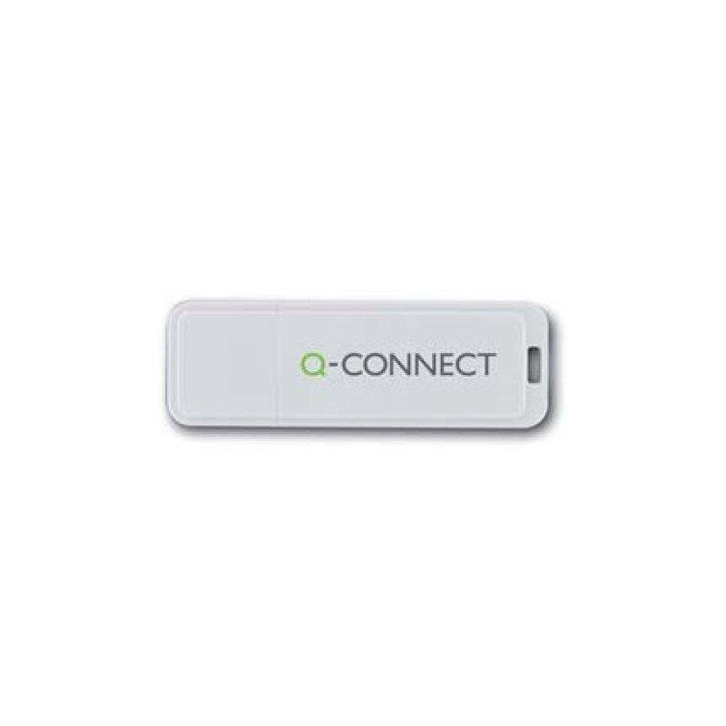 Qconnect 16GB USB 2.0 Flash Drive White