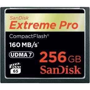 SanDisk 256GB Extreme Pro 160MB/s CompactFlash Card