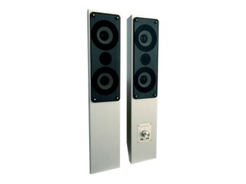 Image of Pair of wall mountable active white board speakers with 3 USB inputs