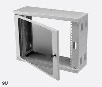 ES 4012204/G-CW WALL MOUNTED CABINET 6U Grey Height 330mm