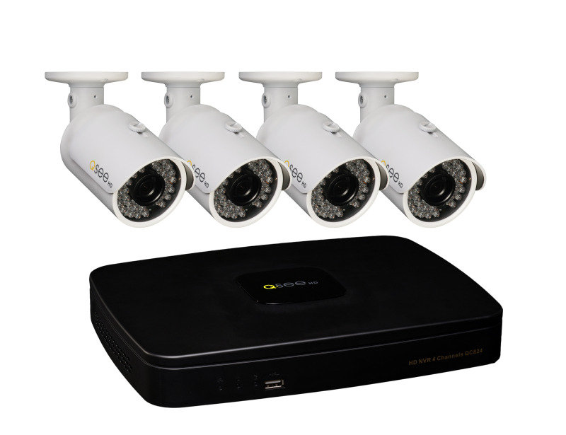 QSee 4 Camera 4 Channel 1080p CCTV Network Video Recorder Kit with 1TB HDD