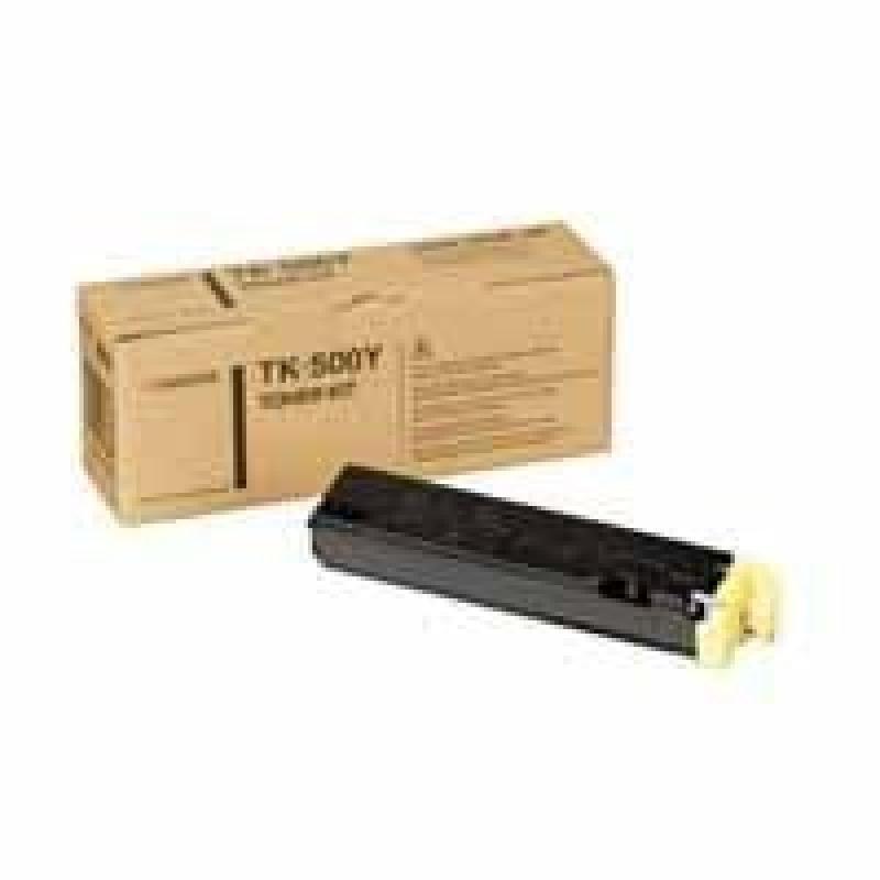Kyocera TK 500Y Yellow Laser Toner Cartridge 8000 Pages