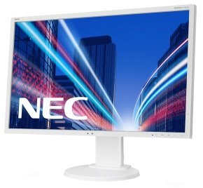 "NEC E223W 22"" LED VGA DVI Monitor White"
