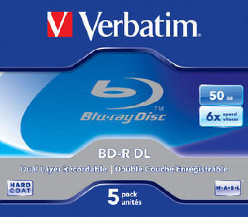 Verbatim 6x BD-R Dual Layer 50GB 5 Pack Jewel Case