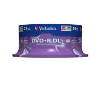 Verbatim Dvdr 8x Dual Layer P25 Spindle