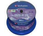 Verbatim Dvdr 8x Dual Layer P50 Spindle