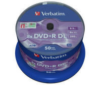 Verbatim Dvdr 8x Dual Layer P50 Spindle