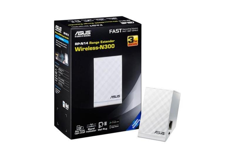 Image of Asus RP-N14 - N300 Wireless Network Range Extender