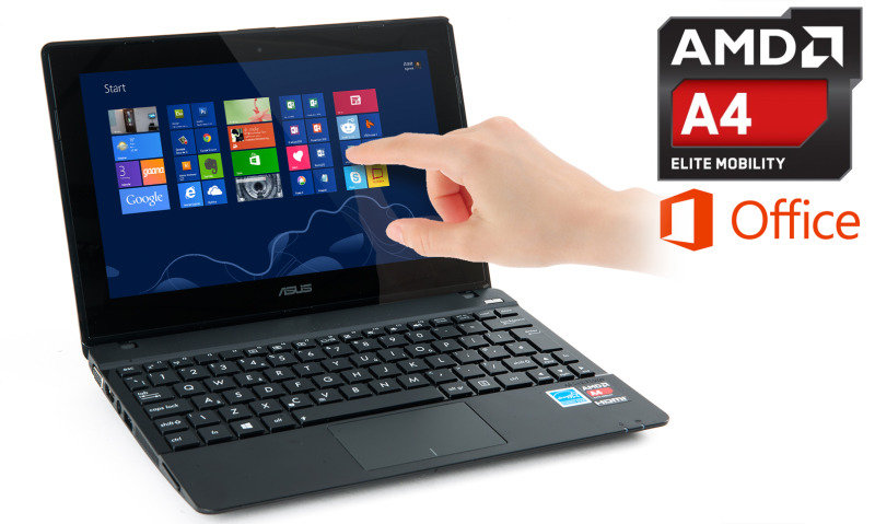 Asus X102BA Touch Laptop AMD A41200 1GHz 4GB RAM 500G HDD 10.1&quot Touch NOOPT AMD HD 8180G Webcam Windows 8 64bit
