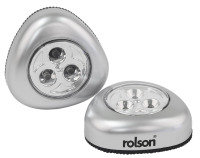 Rolson 2pc 3 LED Push Light