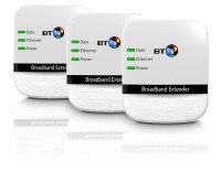 BT 200Mbps Smart Powerline Adapter Triple Pack