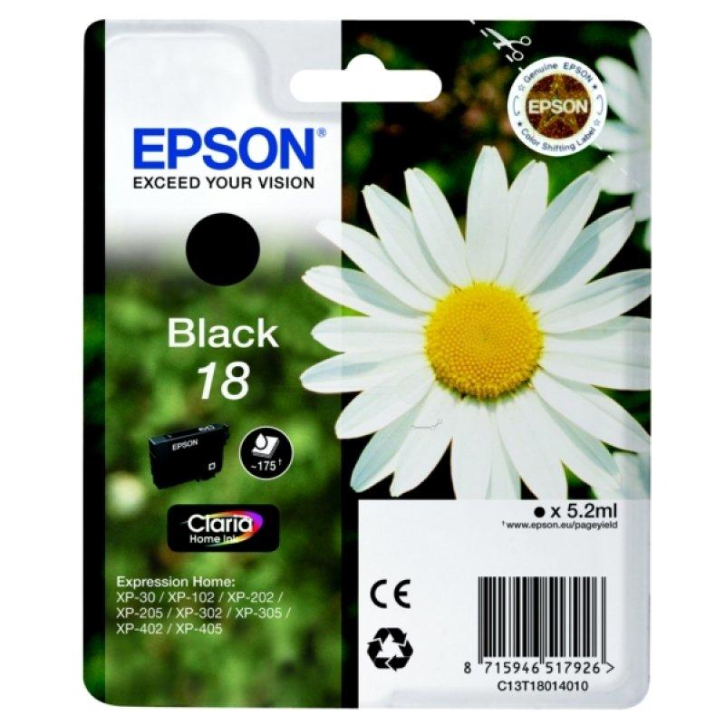 Epson 18 Daisy Black Ink Cart