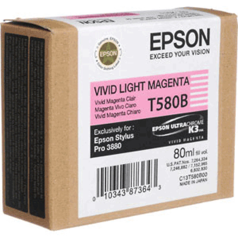 Epson(T580B) Ink Cartridge Bright Magenta