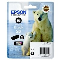 Epson Photo Black 26 Claria Ink Cartridge