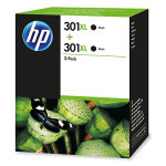 HP 301XL Black Ink cartridge, Twin Pack - D8J45AE