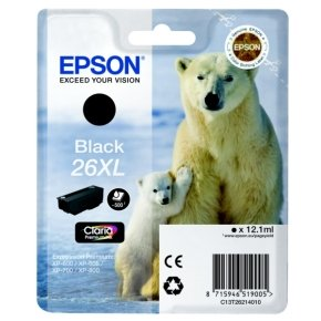 Epson Black 26xl Claria Ink Cartridge