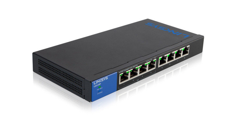 Linksys LGS-108P - 8-Port Desktop Gigabit PoE Switch