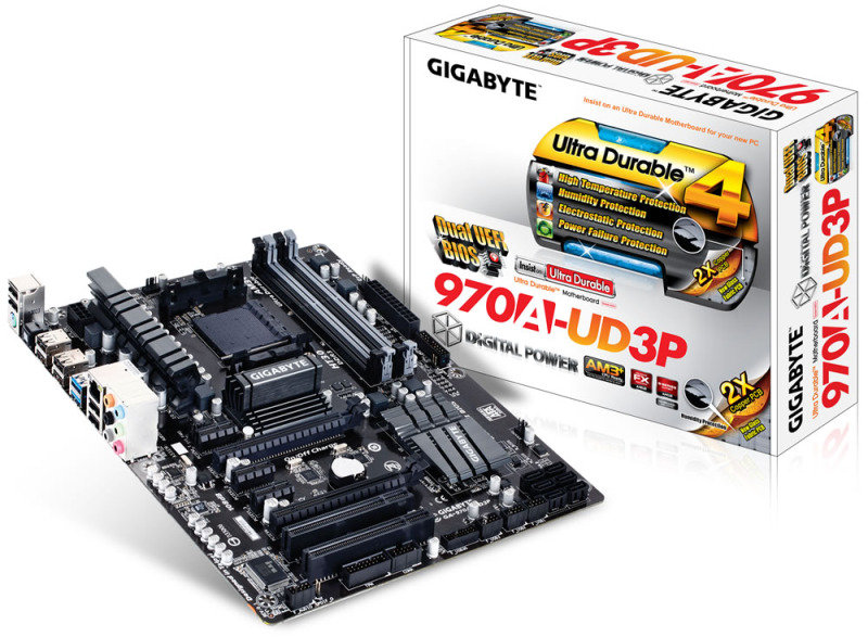 Gigabyte GA970AUD3P Socket AM3 HD Audio ATX Motherboard
