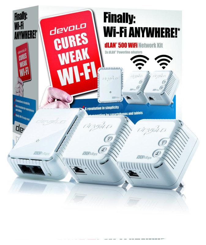 Devolo dLAN 500 - Wifi Triple Powerline Network Kit