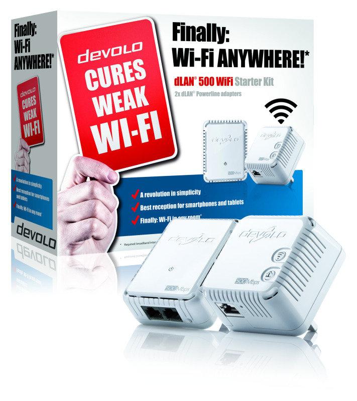 Devolo dLAN 500 - Wifi Twin Powerline Starter Kit