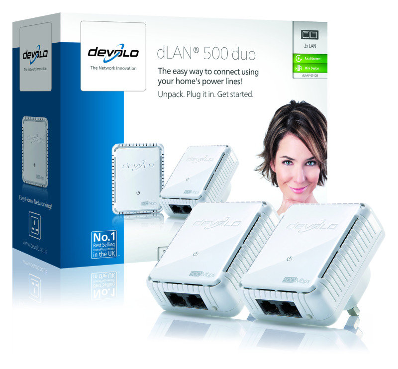 Image of Devolo dLAN 500 Duo Adapter - Twin Pack