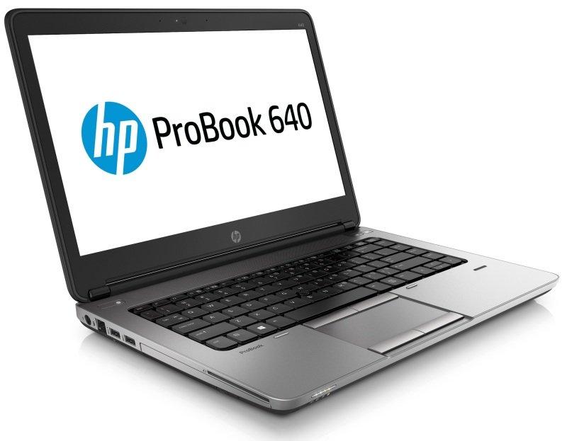 "Image of HP ProBook 640 Laptop, Intel Core i5-4300M 2.4GHz, 4GB RAM, 500GB HDD, 14"" LED, DVDRW, Intel HD, Webcam, Bluetooth, FPR, Windows 7 Pro 64bit"