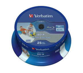 Verbatim Bluray 25gb 6x Pk25 Spindle Ij
