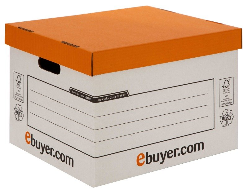 Ebuyer.com Standard Storage and Archive Box - 10 Pack