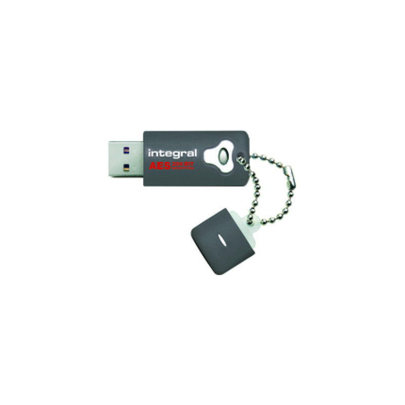 Image of Integral Crypto Advanced Encryption Standard (AES) FIPS 197 Encrypted 32GB USB 2.0 Flash Drive