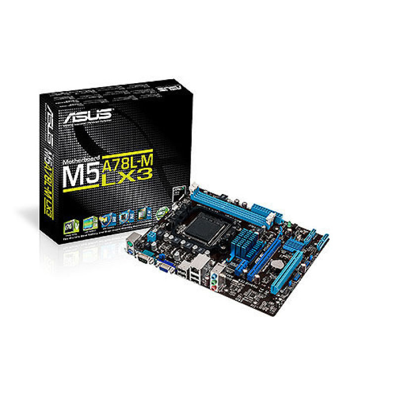 EXDISPLAY Asus M5A78L-M LX3 Socket AM3+ VGA 8 Channel Audio mATX Motherboard