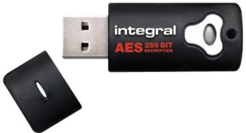 Image of Integral Crypto Advanced Encryption Standard (AES) FIPS 140 Encrypted 32GB USB 2.0 Flash Drive.