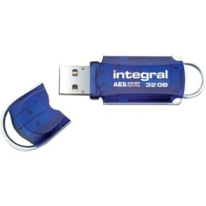 Integral Courier Advanced Encryption Standard (AES) USB 2.0 32GB Blue